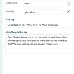 GoodBarber 4.5 SEO