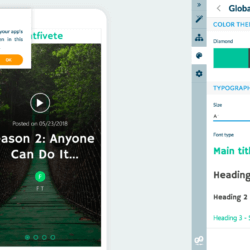 GoodBarber 4.5 global style