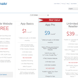 appmakr pricing