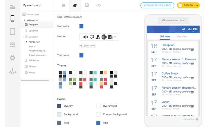 create an event app