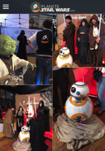Live gallery in Planete Star Wars app, made with GoodBarber