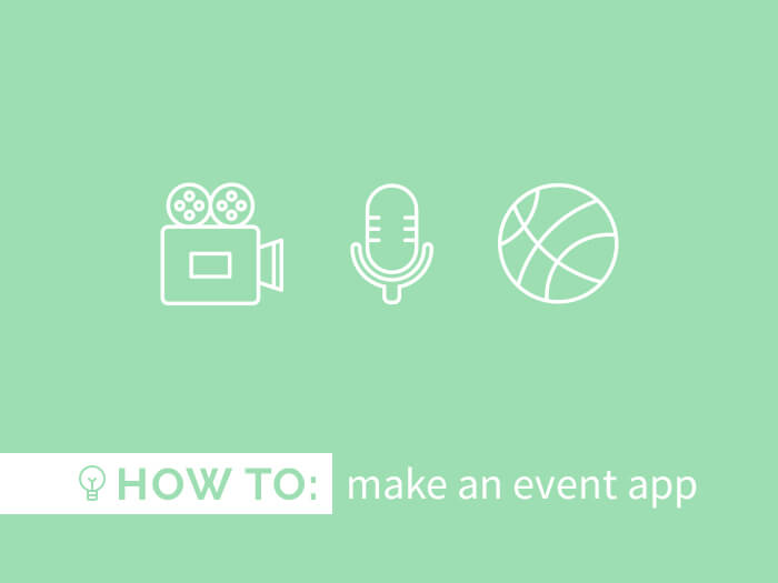 How to create an event app