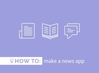 how to make a news app
