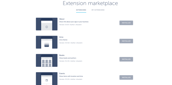 shoutem-extension-marketplace