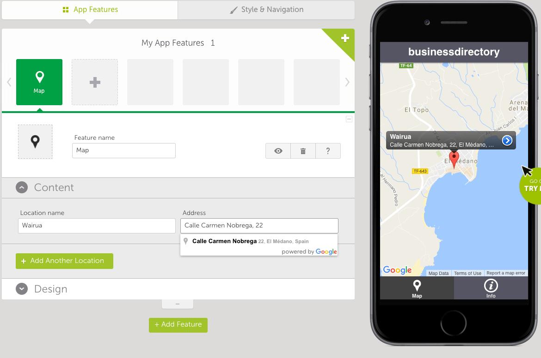 Swiftic business location screenshot