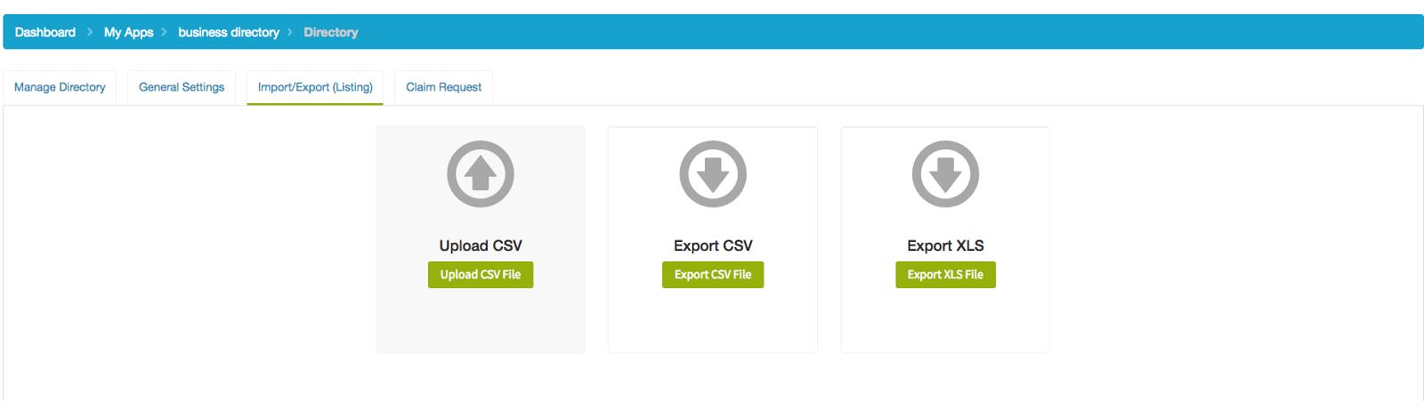 appypie upload csv directory app