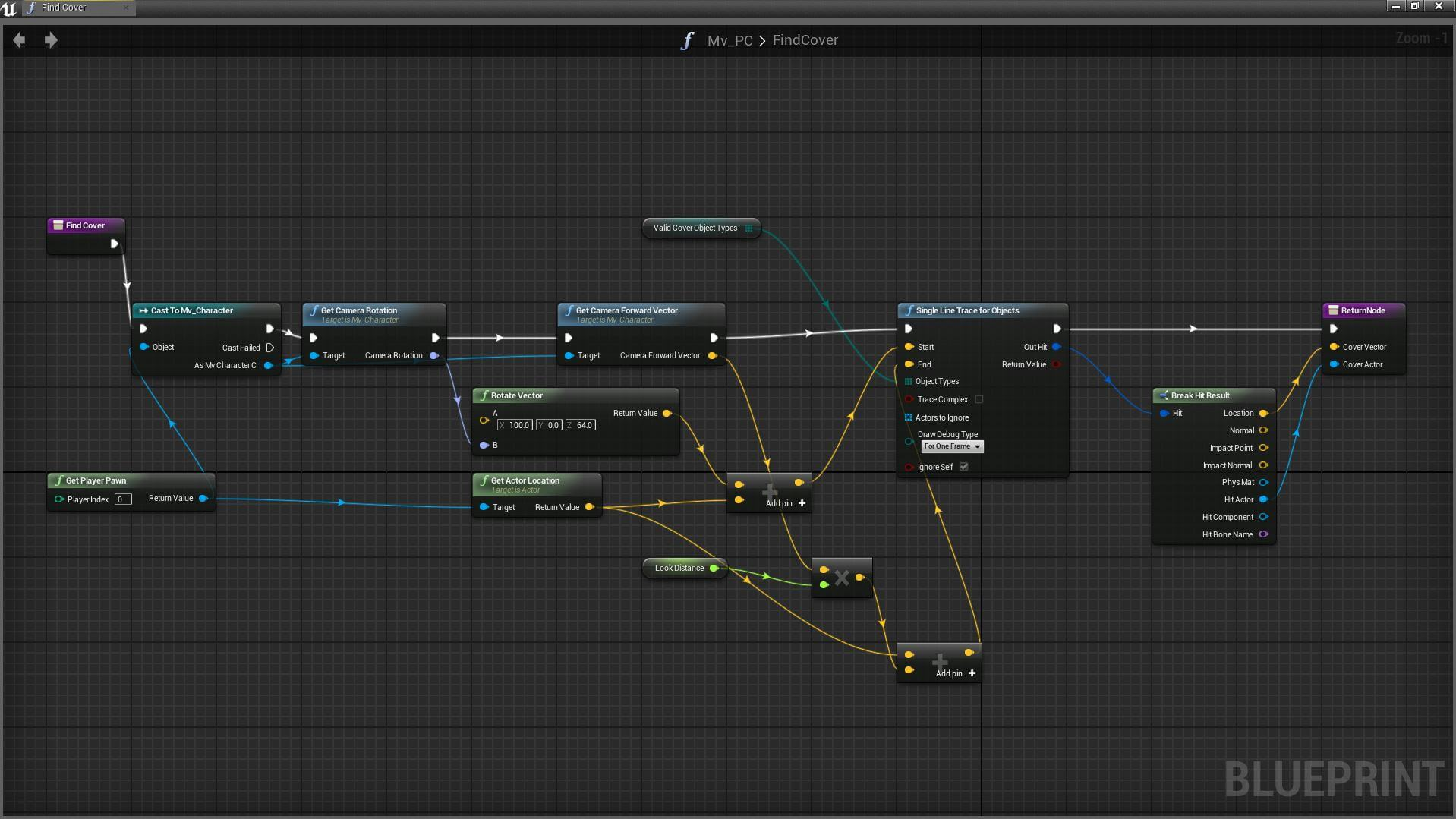 unreal - blueprint screenshot