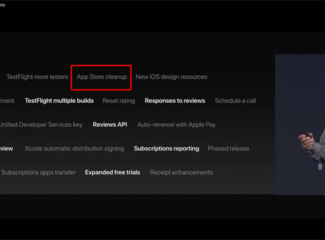 Apple conference screenshot