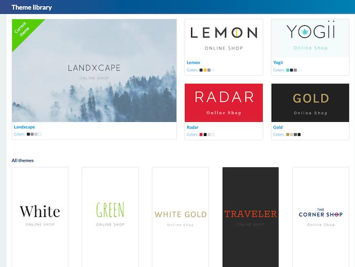 GoodBarber Shopping app theme selection